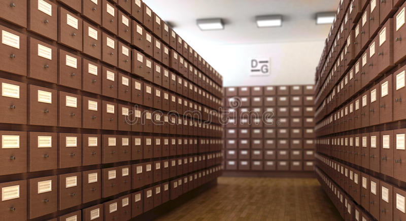 Library 3d Cg Scene Royalty Free Stock Images