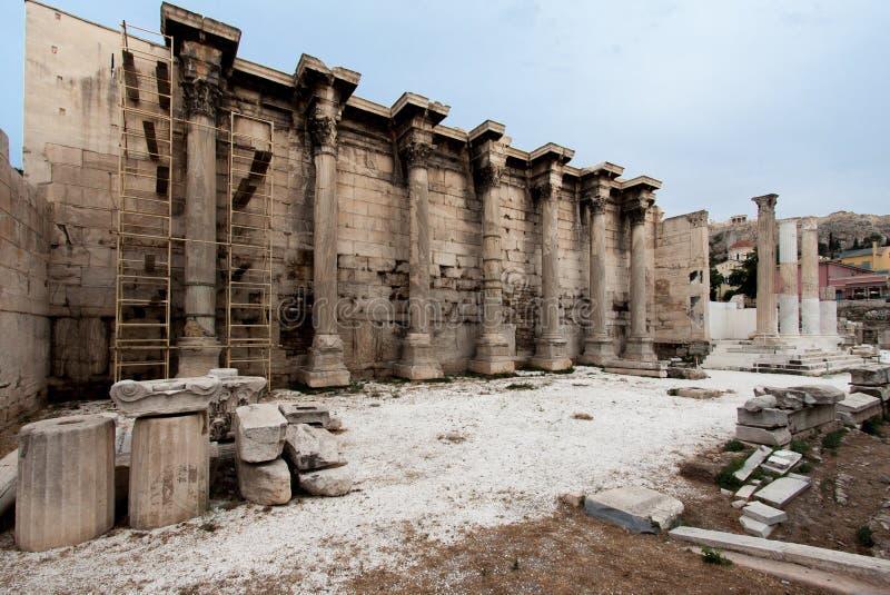 Library of Adrian Athens Greece stock photos