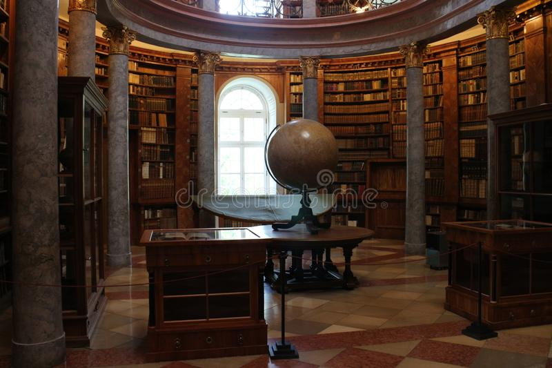Library in The Benedictine Pannonhalma Archabbey. Hungary royalty free stock photography
