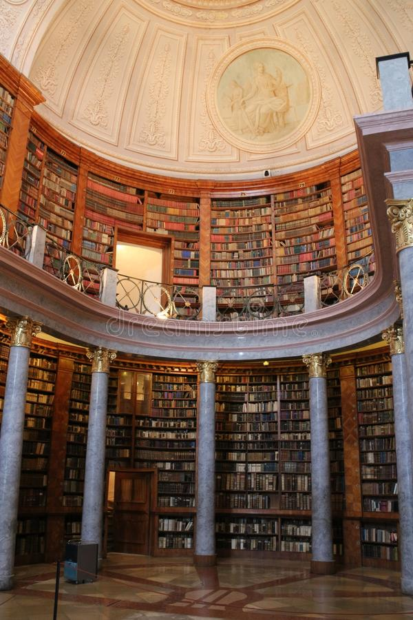 Library in The Benedictine Pannonhalma Archabbey. Hungary stock image