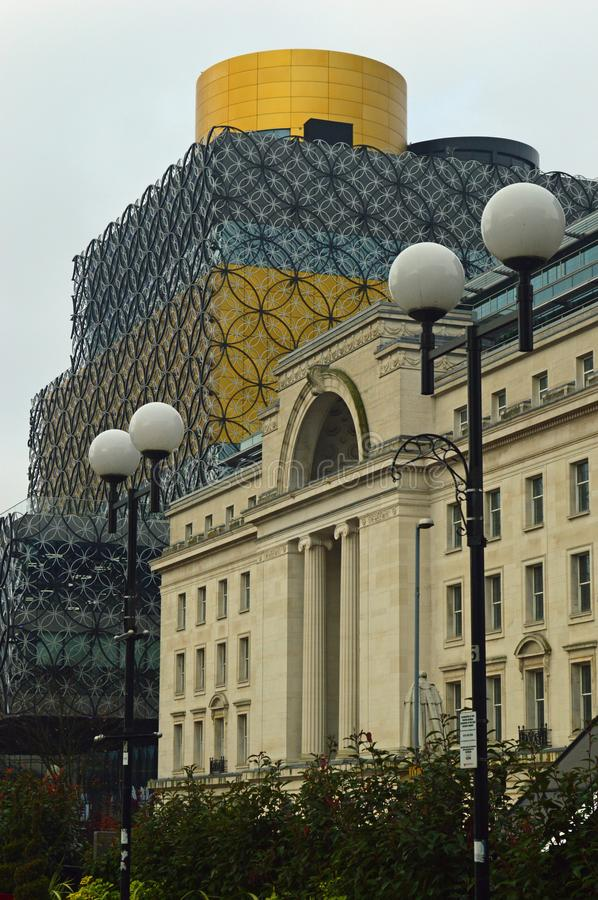 Library of Birmingham and Baskerville house stock photo