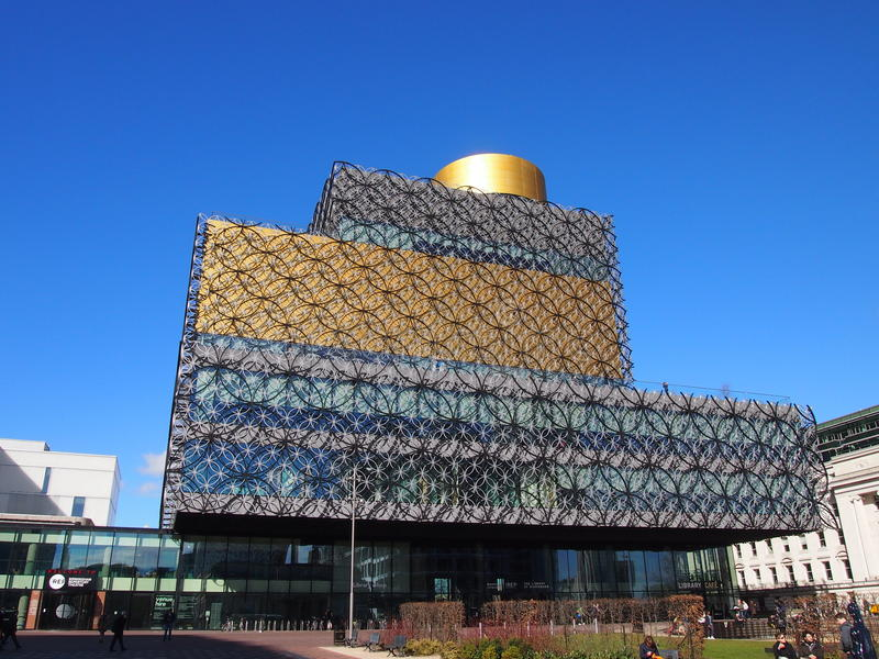 The Library of Birmingham, England stock images