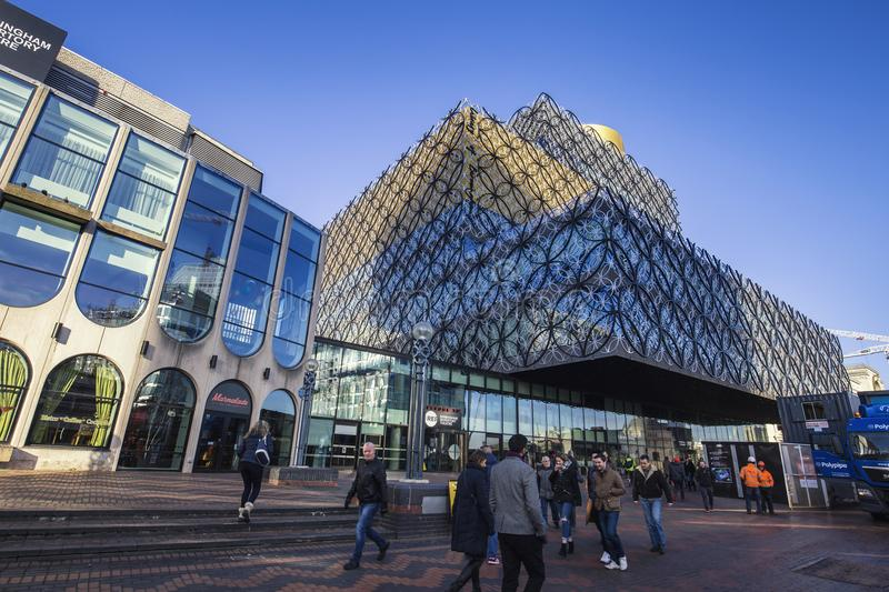 Library of Birmingham Exterior in United Kindom stock photo