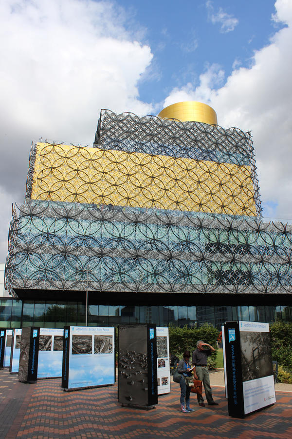 Library of Birmingham, West Midlands, England. New public library known as Library of Birmingham, West Midlands, England. It was opened in 2013 and designed by stock image