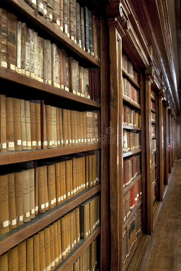Library of books royalty free stock photography