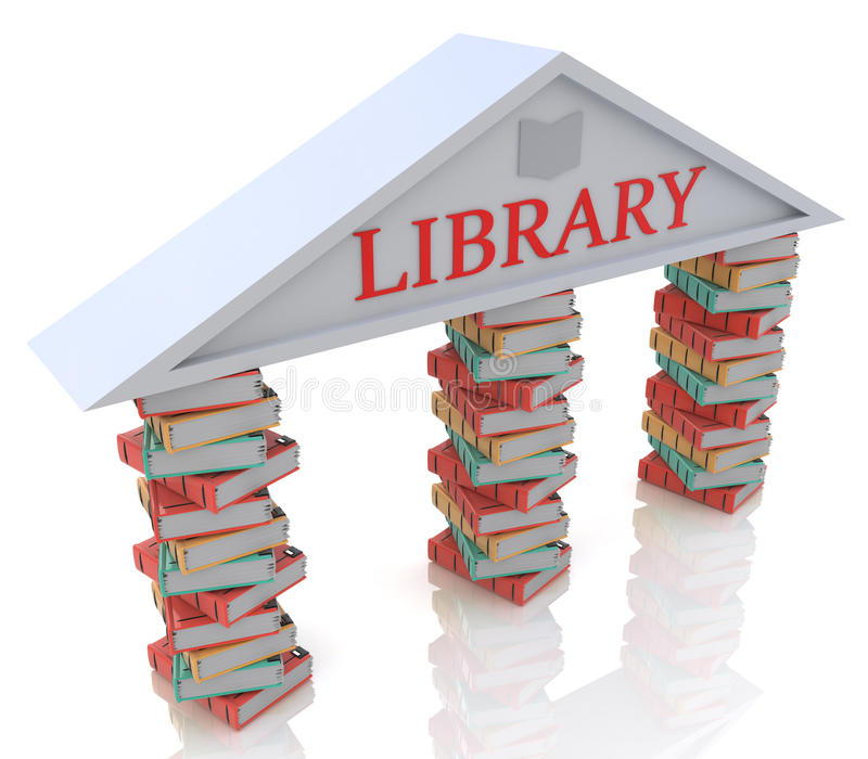 Library books royalty free stock photo