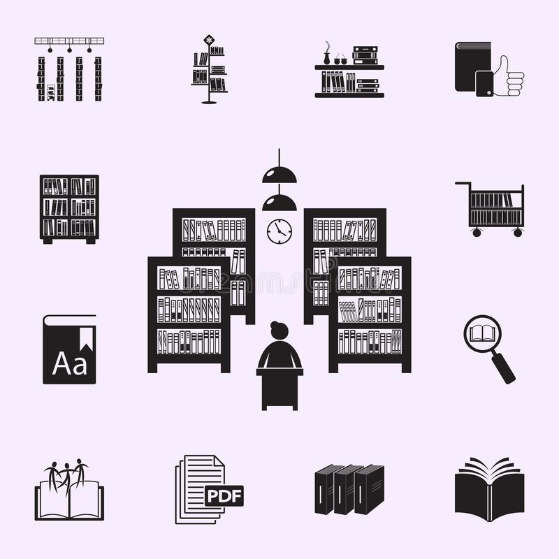 Books On The Shelf Icons  Element Of Edecation For Mobile