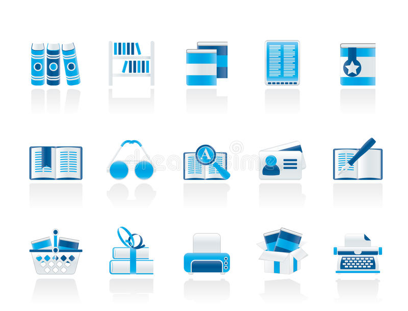 Library and books Icons vector illustration