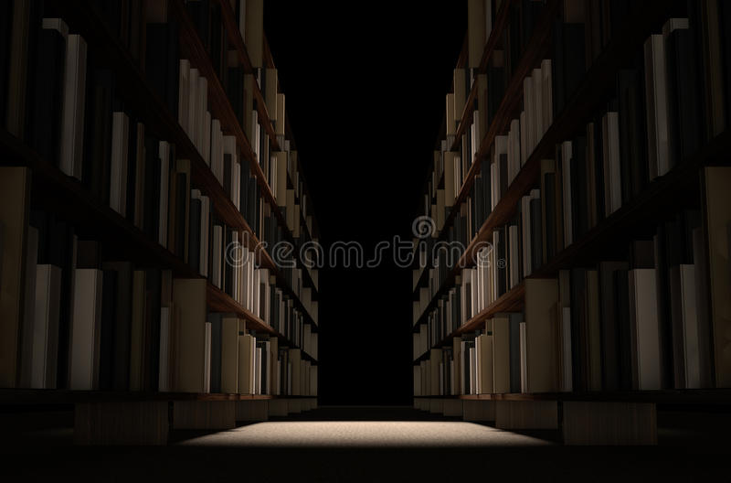 Library Bookshelf Aisle royalty free stock images