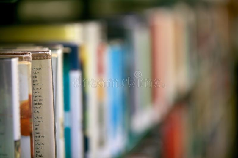 Download Library Bookshelf stock image. Image of background, blur - 39504001