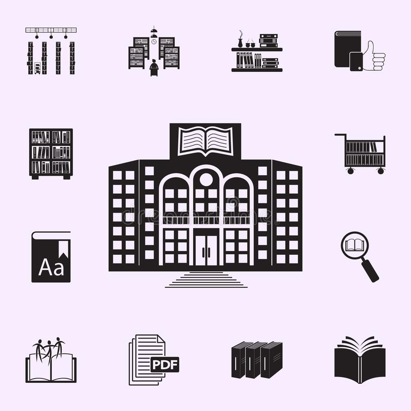 Bank Building Icons, Court Building Icons Set Stock Vector