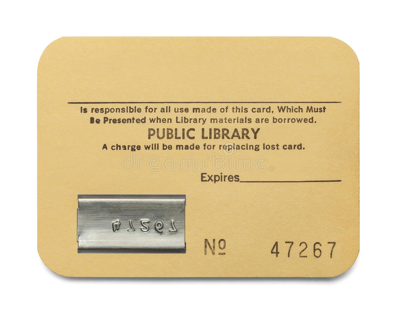 Library Card royalty free stock photo