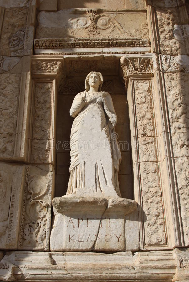 Download Library of Celsus stock image. Image of history, carved - 17128849
