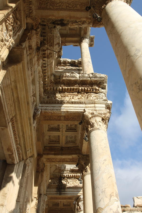 Library of Celsus stock photo