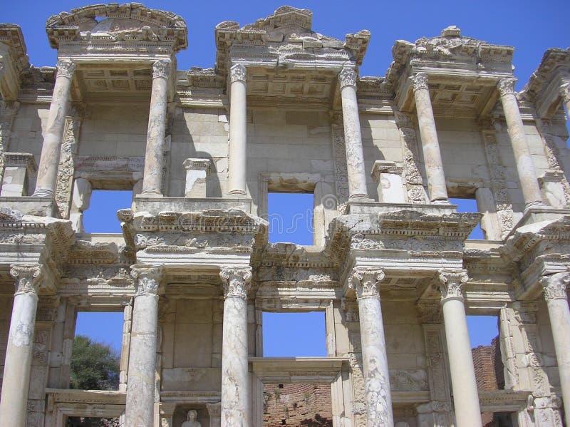 Library of Celsus Ephesus stock photo