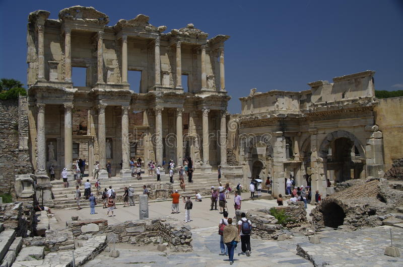 Download Library Of Celsus At Ephesus, Turkey Editorial Photography - Image: 20118417