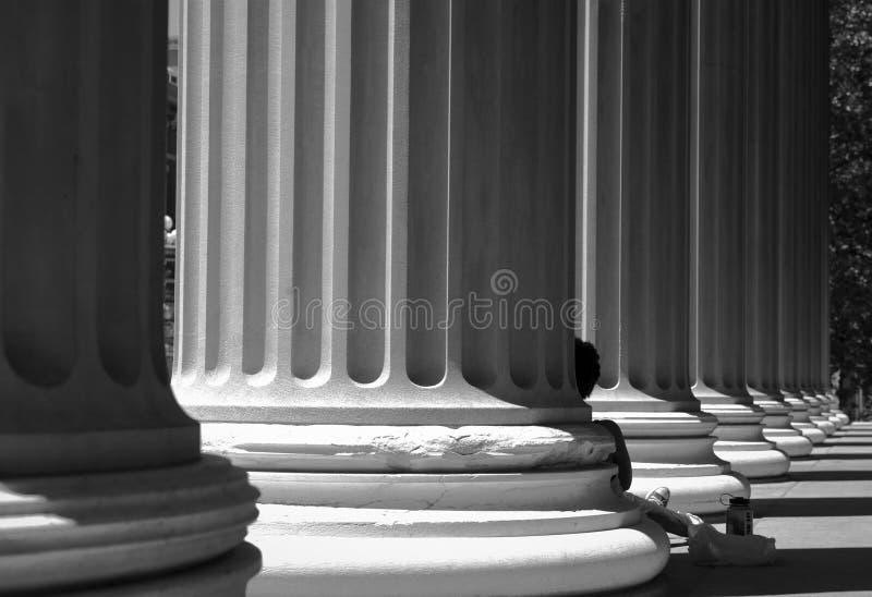Library of Columbia university stock image