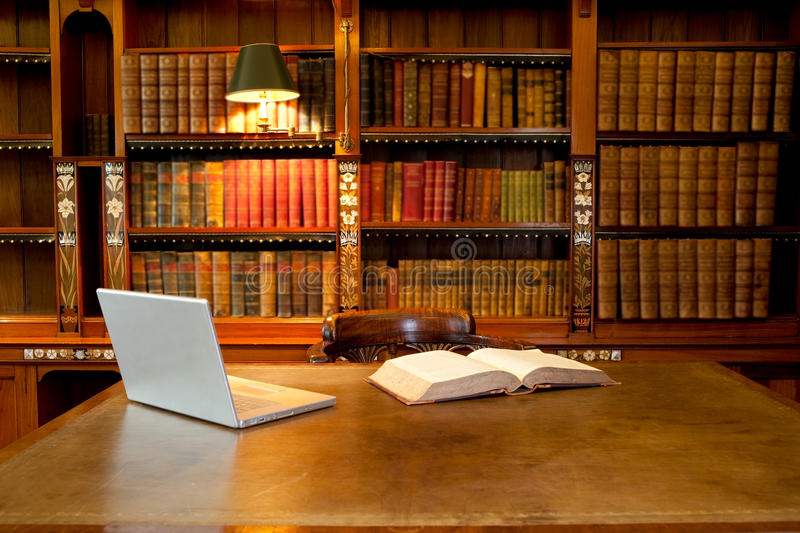 Download Library, computer and desk stock photo. Image of legal - 20785064
