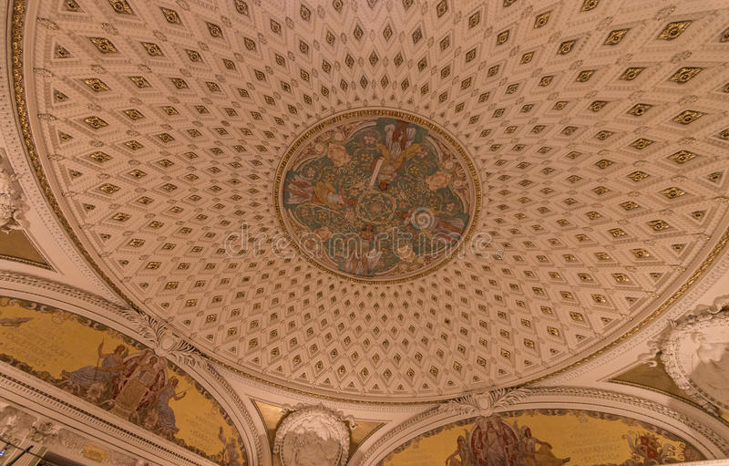 Library of Congress interior royalty free stock photo