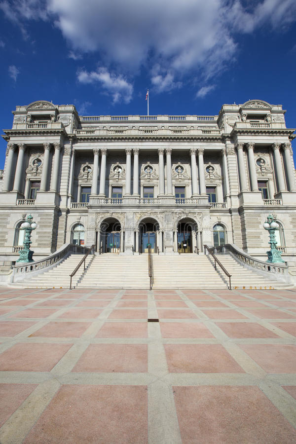 Library of Congress in Washington. Library of Congress in Washington D,C in America royalty free stock image