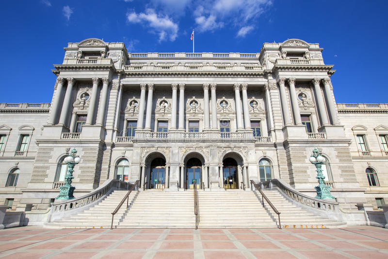Library of Congress in Washington. Library of Congress in Washington D,C in America royalty free stock photo