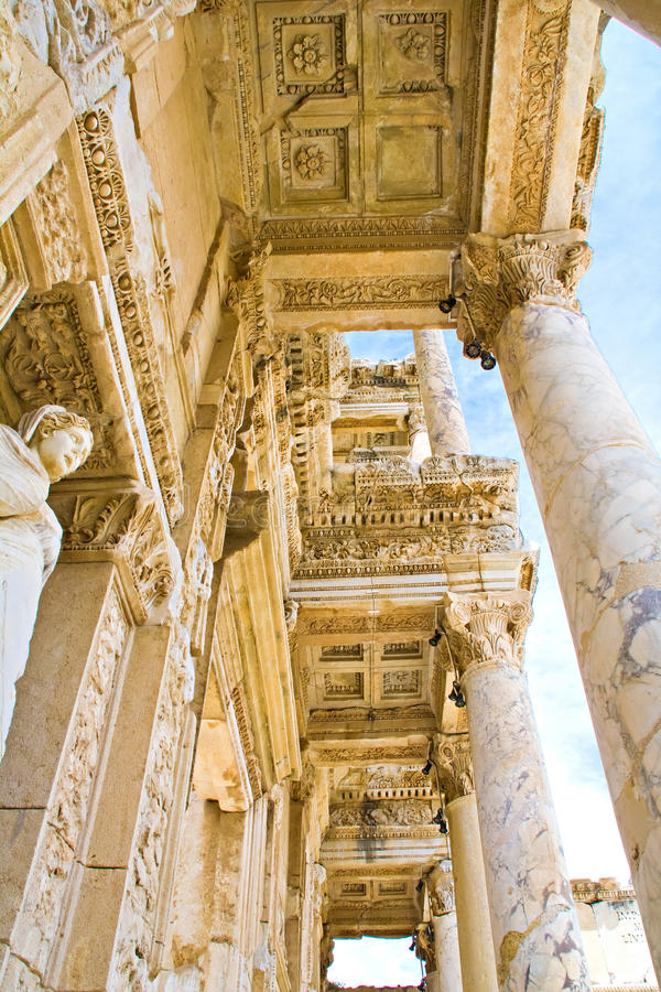 Download Library in Ephesus stock image. Image of selcuk, classical - 27958389