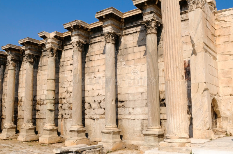 Download The library of Hadrian stock image. Image of doric, classical - 6240953