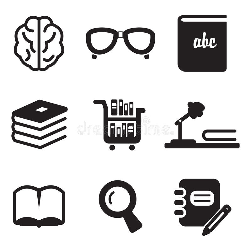 Library Icons royalty free illustration