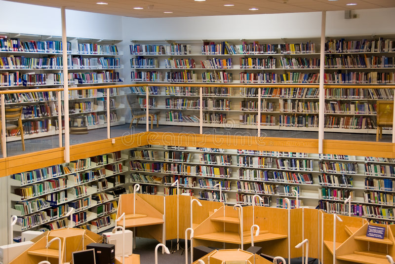 Library interior stock images