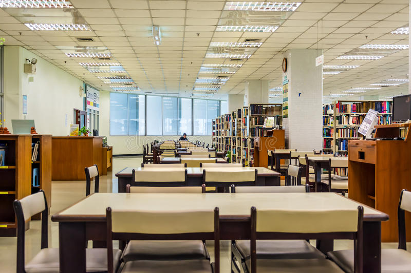 Download Library Interior Of Chulalongkorn University, The Oldest Univers Editorial Photography - Image: 31281312