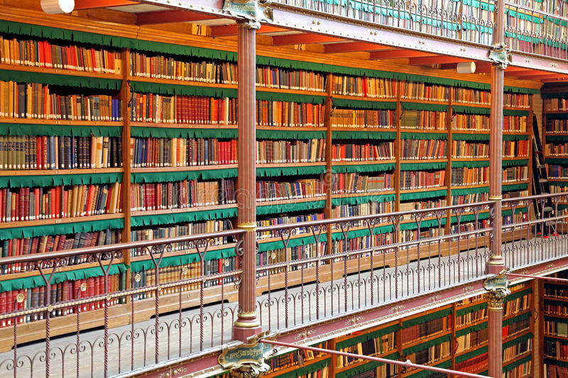 Library in Rijksmuseum at Amsterdam, Netherlands royalty free stock photo