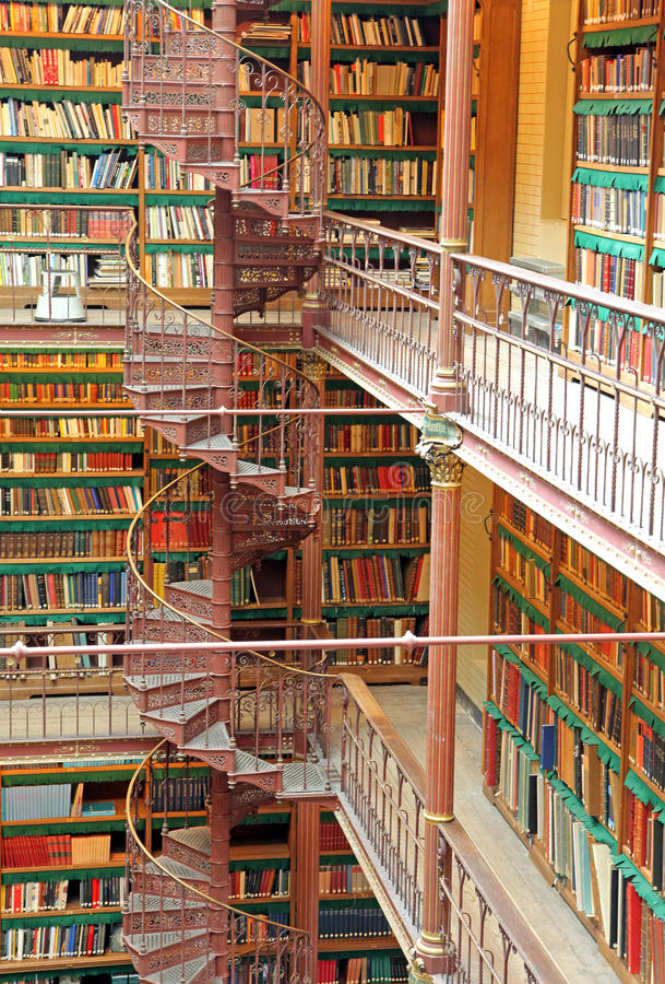 Library in Rijksmuseum at Amsterdam, Netherlands royalty free stock photos