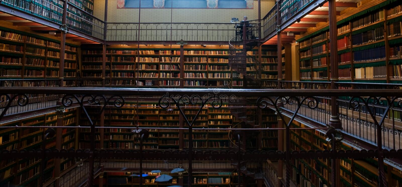 Library of Rijksmuseum royalty free stock photos