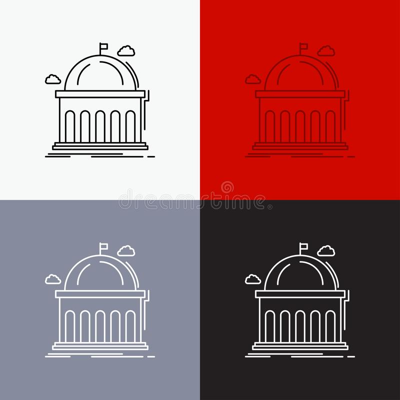 Library, School, Education, Learning, University 5 Color