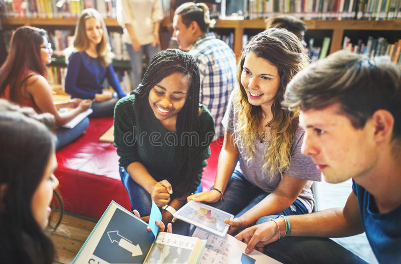Library School Knowledge Education Friendship Concept royalty free stock photography