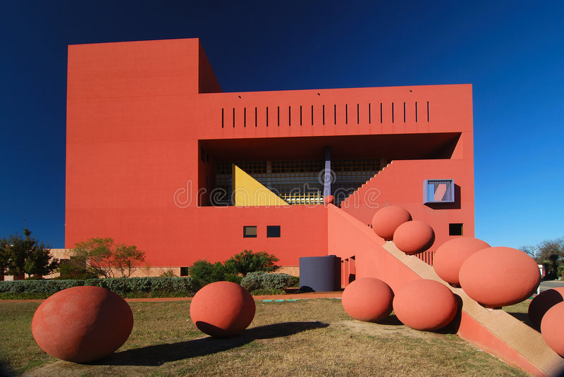 Download Library with Spheres stock photo. Image of building, spheres - 3869722