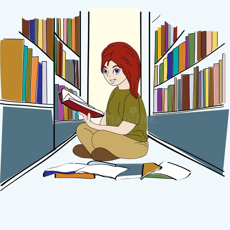 Download Library Study stock vector. Image of cute, education - 22742367
