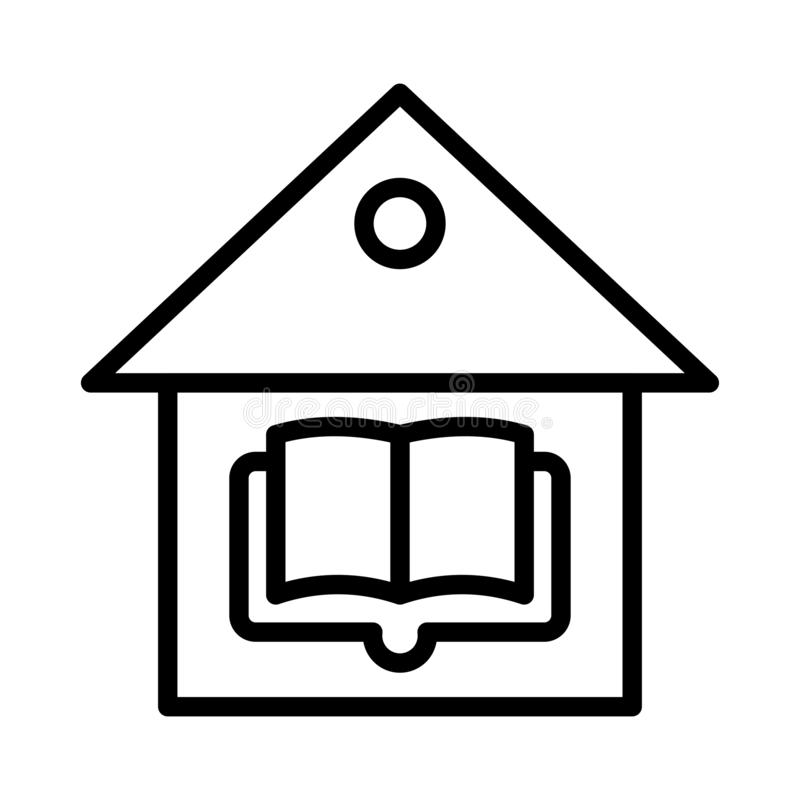 Library thin line vector icon stock illustration