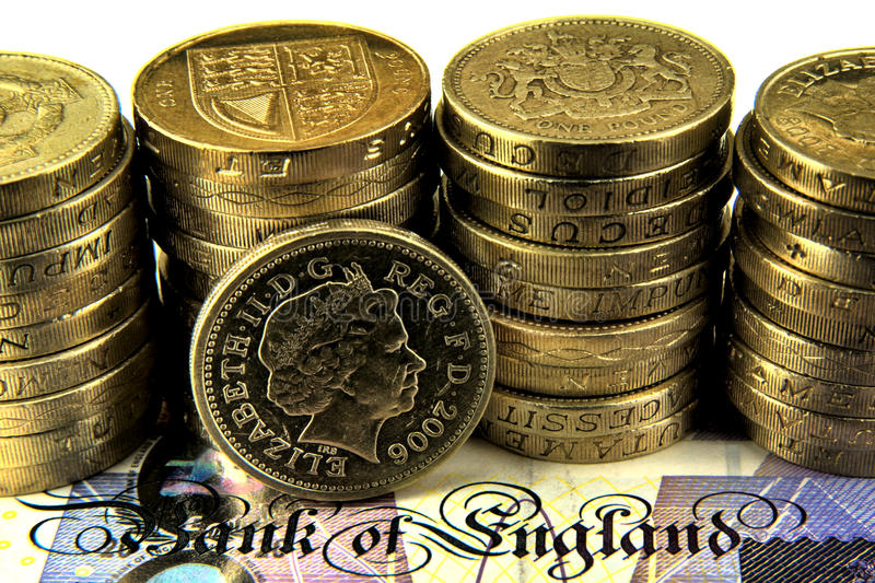 Libras britânicas fotografia de stock royalty free