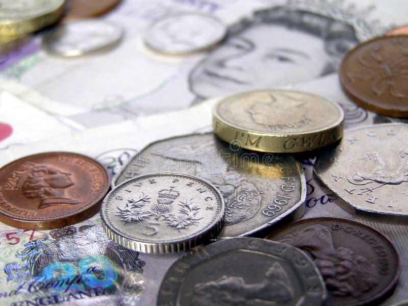 Libras britânicas do dinheiro fotografia de stock