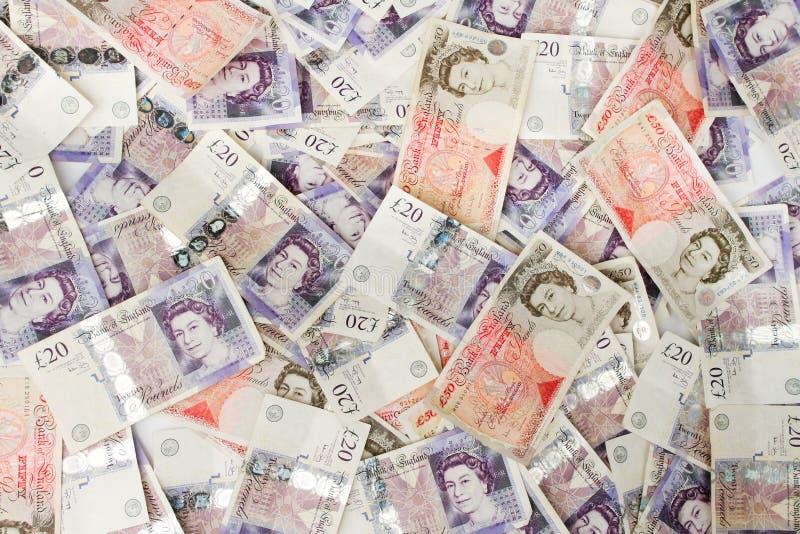 Libras britânicas do fundo fotografia de stock royalty free