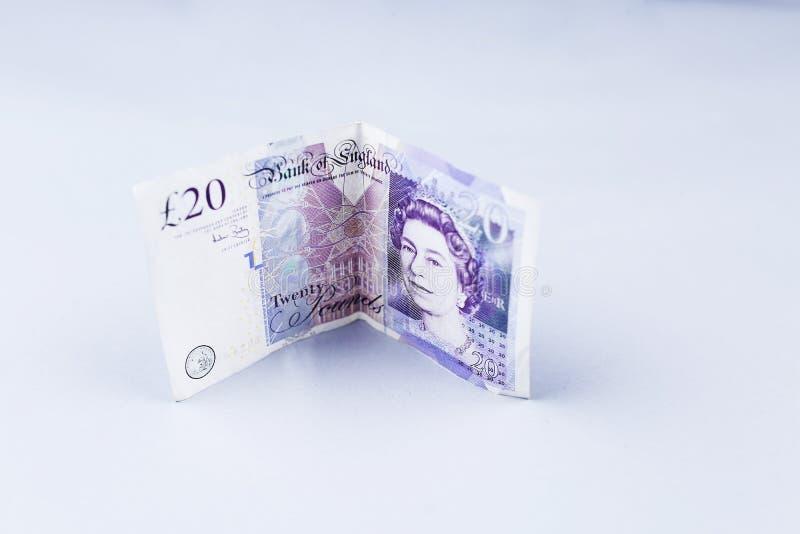 Libras, 20 libras británicas fotos de archivo libres de regalías