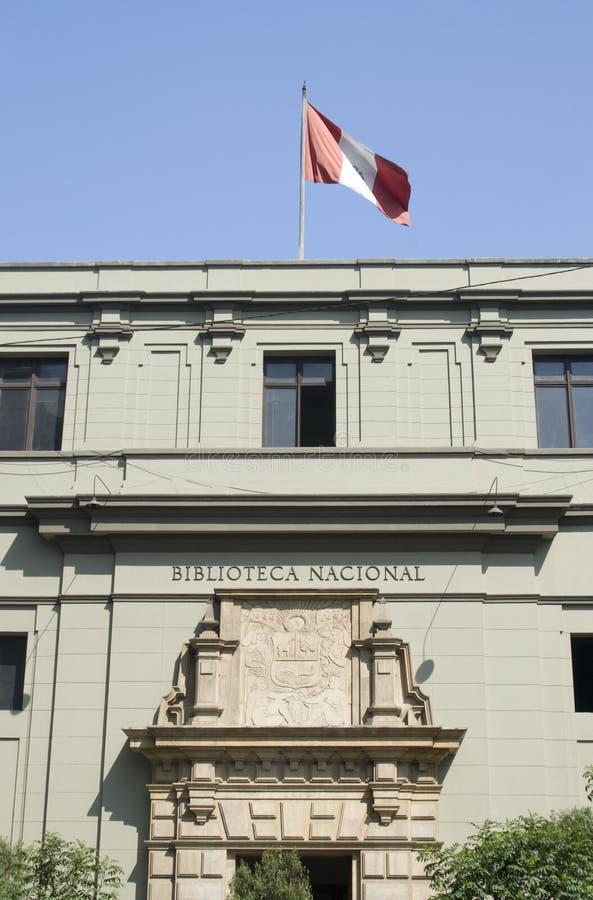 libray lima national peru arkivbild