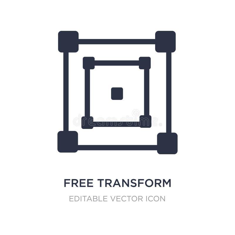 libre transforme el icono en el fondo blanco El ejemplo simple del elemento de corrige concepto de las herramientas ilustración del vector