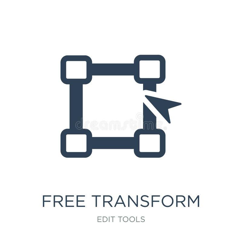 libre transformez l'icône dans le style à la mode de conception libre transformez l'icône d'isolement sur le fond blanc libre tra illustration de vecteur