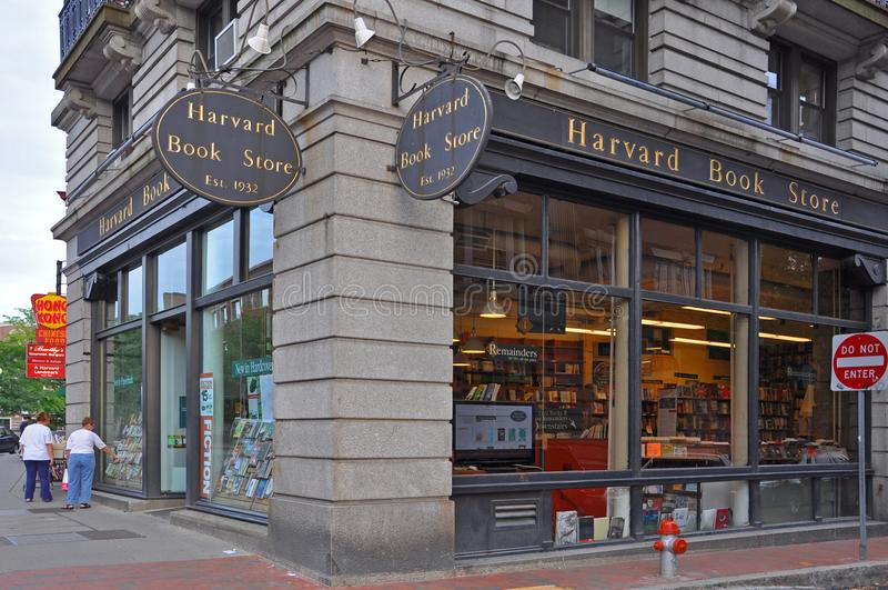 Librería de Harvard, Boston, los E.E.U.U. imagen de archivo