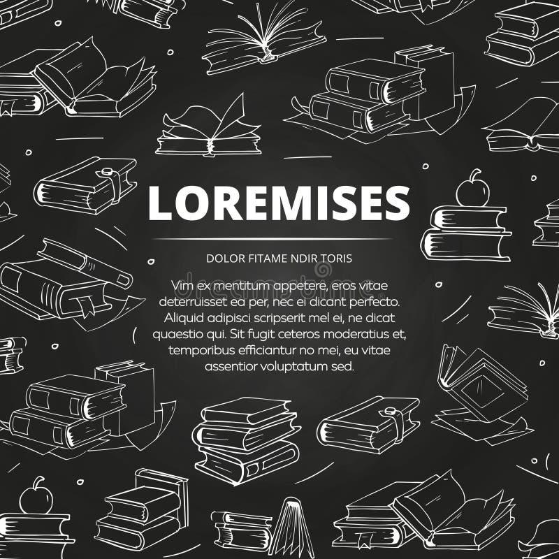 Librería o biblioteca blanco y negro del bosquejo stock de ilustración