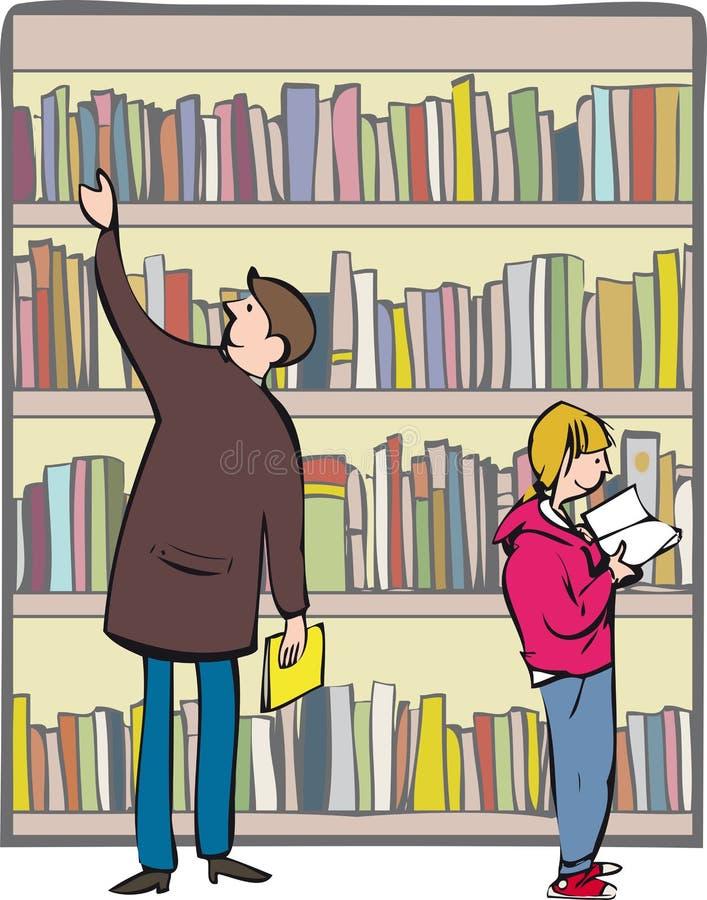 libreria illustrazione di stock