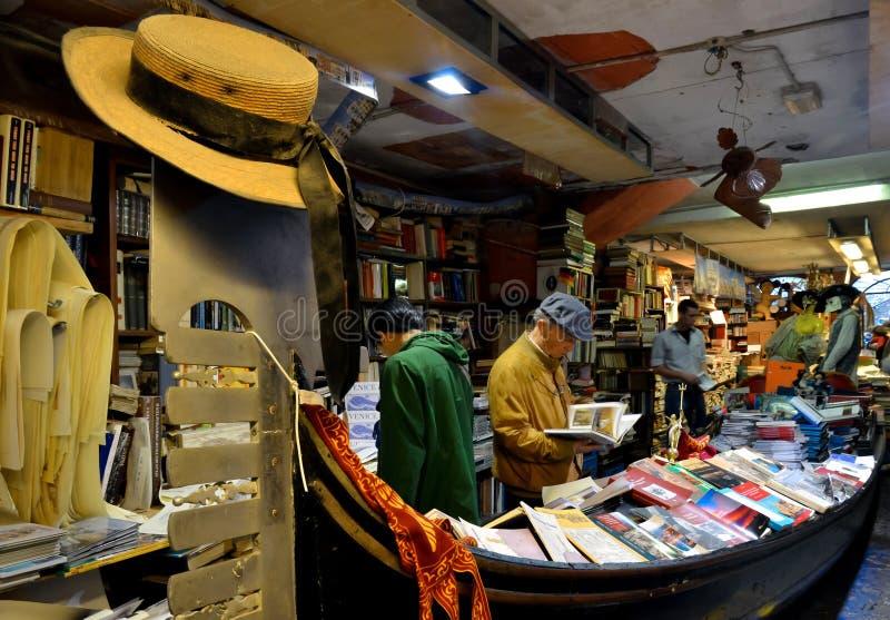 Libreria Acqua Alta, Venice stock image