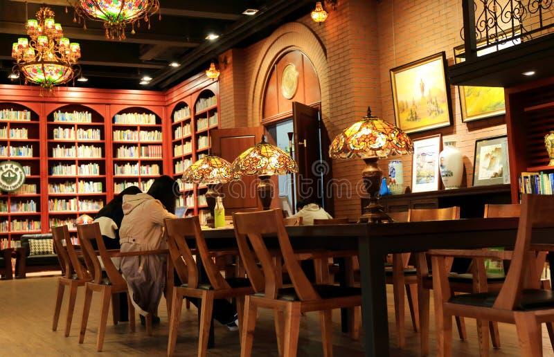 Libreria alla città dell'università di shenzhen fotografia stock libera da diritti